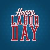Etiqueta feliz do Dia do Trabalhador Foto de Stock