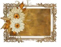 Etiqueta floral Foto de archivo libre de regalías