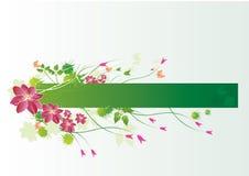 Etiqueta floral ilustração do vetor