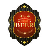 Etiqueta fresca bonita da cerveja Foto de Stock Royalty Free