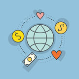 Etiqueta Fundraising ilustração stock