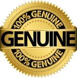 Etiqueta genuína do ouro, Imagem de Stock Royalty Free