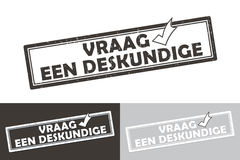 Etiqueta holandesa imprimível/selo do negócio dos peritos Fotos de Stock Royalty Free