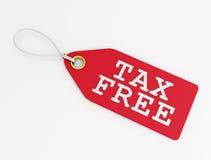 Etiqueta isenta de impostos Imagem de Stock Royalty Free