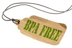 Etiqueta isolada livre de BPA fotografia de stock royalty free