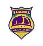 Etiqueta isolada vintage da liga principal do basebol Fotos de Stock Royalty Free