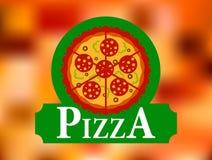 Etiqueta italiana del restaurante de la pizza Foto de archivo libre de regalías
