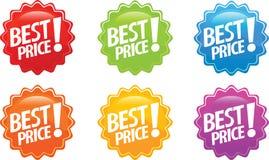 Etiqueta lustrosa do melhor preço Fotos de Stock Royalty Free
