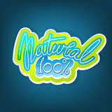 Etiqueta natural stock de ilustración
