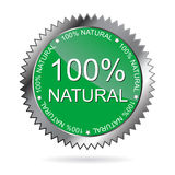 etiqueta natural de 100%   Fotografia de Stock Royalty Free