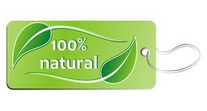 etiqueta natural del 100% Foto de archivo