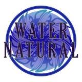 Etiqueta natural del agua Fotografía de archivo