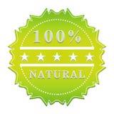 etiqueta natural del 100 por ciento Imagenes de archivo