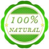 etiqueta natural del 100 por ciento Fotografía de archivo libre de regalías