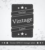 Etiqueta negra con diseño diseñado vintage retro libre illustration