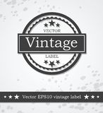 Etiqueta negra con diseño diseñado vintage retro Foto de archivo libre de regalías