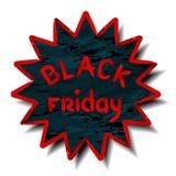 Etiqueta negra de viernes Ilustración del vector Imagen de archivo