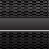 Etiqueta negra y de plata abstracta en vector de lujo del modelo del fondo del diseño de la malla negra del círculo Fotos de archivo