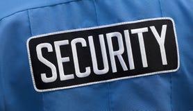 Etiqueta no uniforme do protetor fotos de stock royalty free