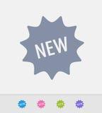 Etiqueta nova - ícones do granito ilustração do vetor