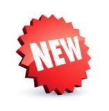 Etiqueta nova vermelha Imagem de Stock Royalty Free