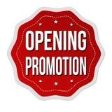 Etiqueta o etiqueta engomada de apertura de la promoción imagen de archivo libre de regalías