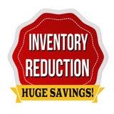 Etiqueta o etiqueta engomada de la reducción del inventario Foto de archivo libre de regalías