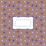Etiqueta ondulada estilizado retro no teste padrão estrelado Imagens de Stock Royalty Free