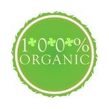 Etiqueta orgánica del 100% Fotos de archivo libres de regalías