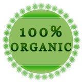 Etiqueta orgánica del 100% Imagenes de archivo