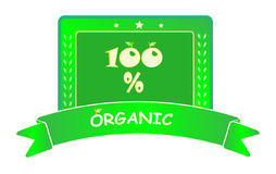 Etiqueta orgânica Imagem de Stock Royalty Free