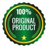 Etiqueta original del producto en el fondo blanco Ilustración del vector Fotos de archivo libres de regalías