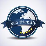 Etiqueta ou emblema amigável de Eco Fotografia de Stock Royalty Free