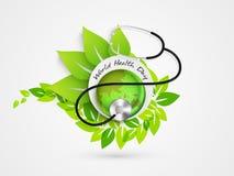 Etiqueta ou etiqueta da etiqueta para o dia de saúde de mundo Imagens de Stock Royalty Free