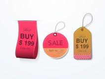 Etiqueta ou etiqueta da venda para a celebração do dia das mulheres felizes Fotografia de Stock