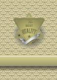 Etiqueta ouro-moldada retro antiga Imagens de Stock Royalty Free