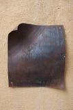 Etiqueta oxidada del metal fotos de archivo libres de regalías