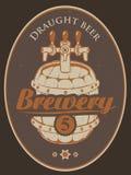 Etiqueta para a cerveja ilustração stock