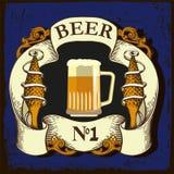 Etiqueta para a cervejaria Fotografia de Stock