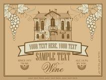 Etiqueta para el vino Imágenes de archivo libres de regalías