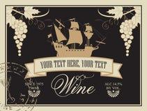 Etiqueta para el vino Foto de archivo libre de regalías