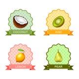 Etiqueta para las frutas, ejemplo del vector stock de ilustración