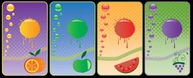 Etiqueta para o suco Imagem de Stock