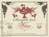 Etiqueta para o vinho Fotografia de Stock