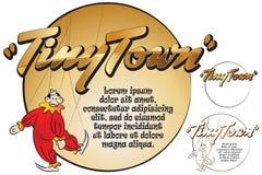 Etiqueta para sua mensagem Brinquedos na cidade minúscula Macaco Imagem de Stock Royalty Free