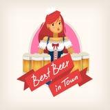 Etiqueta para um bar da cerveja Fotos de Stock Royalty Free