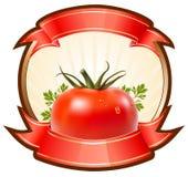 Etiqueta para um produto (ketchup, molho) com illustr ilustração royalty free