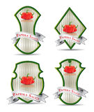 Etiqueta para un producto (salsa de tomate, salsa) Fotos de archivo libres de regalías