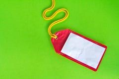 Etiqueta plástica del equipaje del Rad aislada Fotografía de archivo libre de regalías