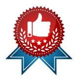 Etiqueta premiada moderna con el icono similar Fotos de archivo libres de regalías